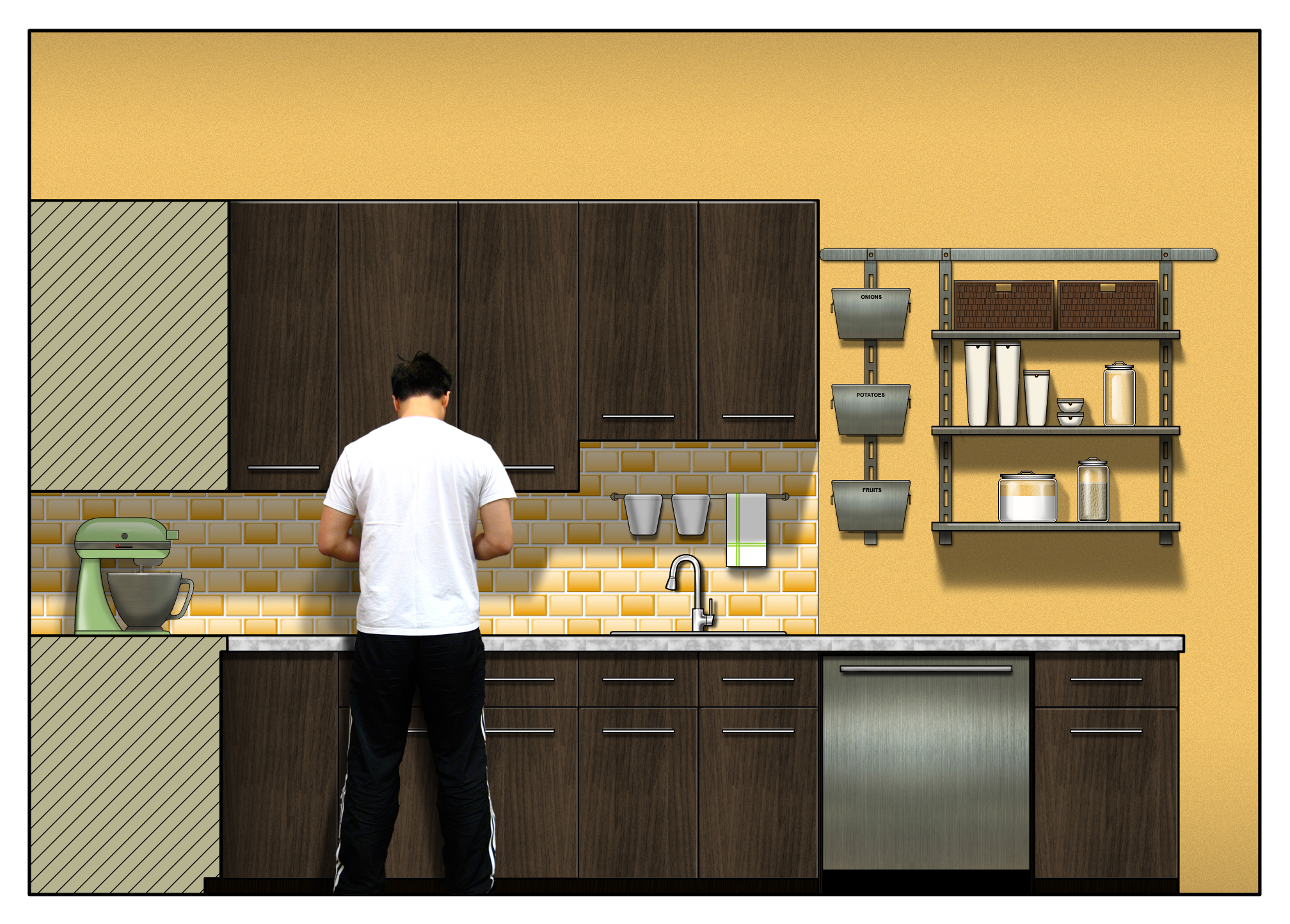 Autocad For Kitchen Design Digital Renderings By Linda Cho At Coroflotcom