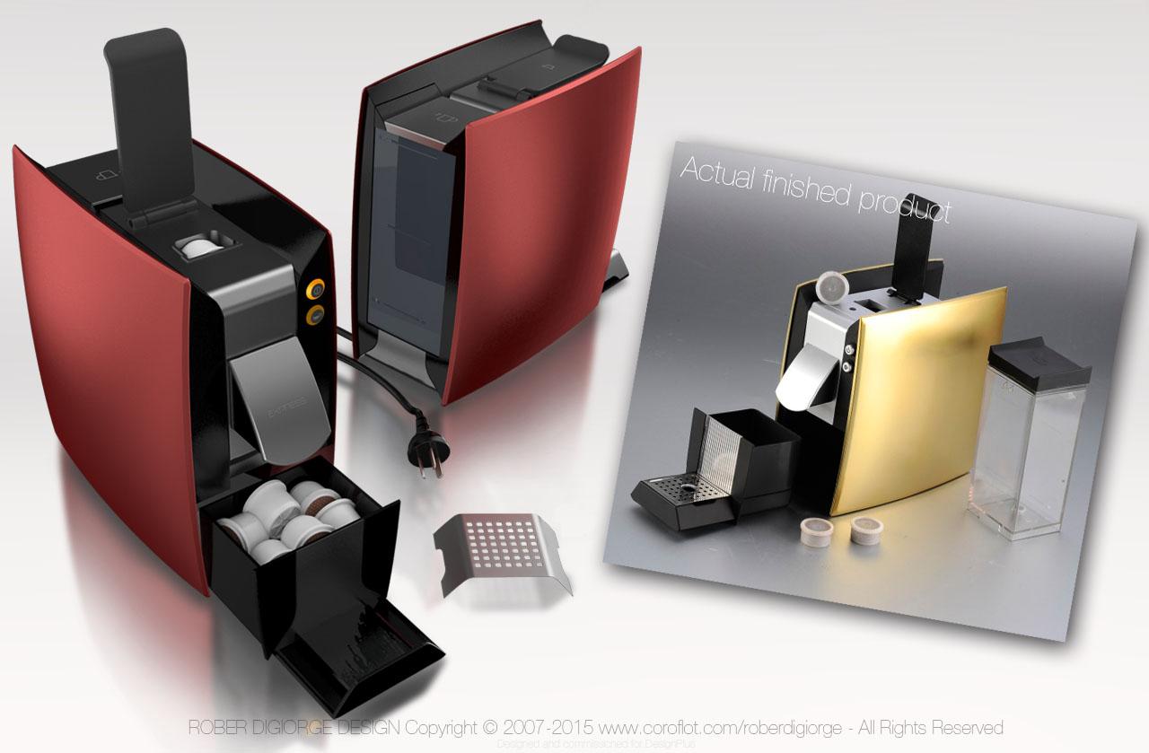 Coffee Maker Design Problem : Capsule / Pod Coffee Maker by Rober Digiorge at Coroflot.com