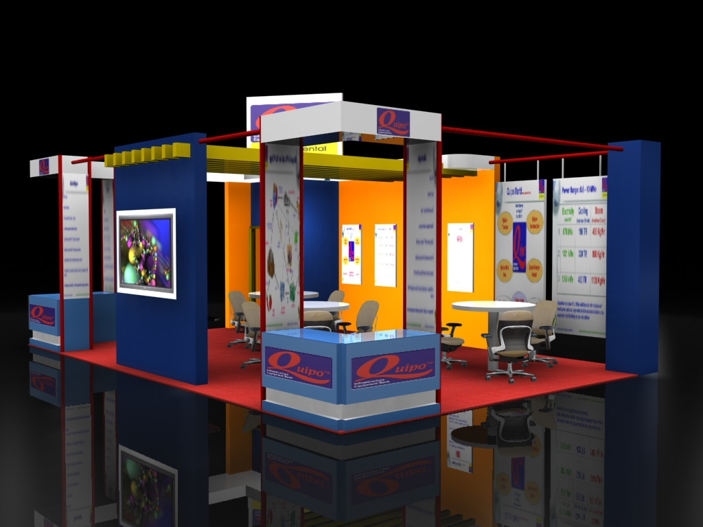 Quipo exhibition stall by nikhil mehta at for Kitchen xpress overseas ltd