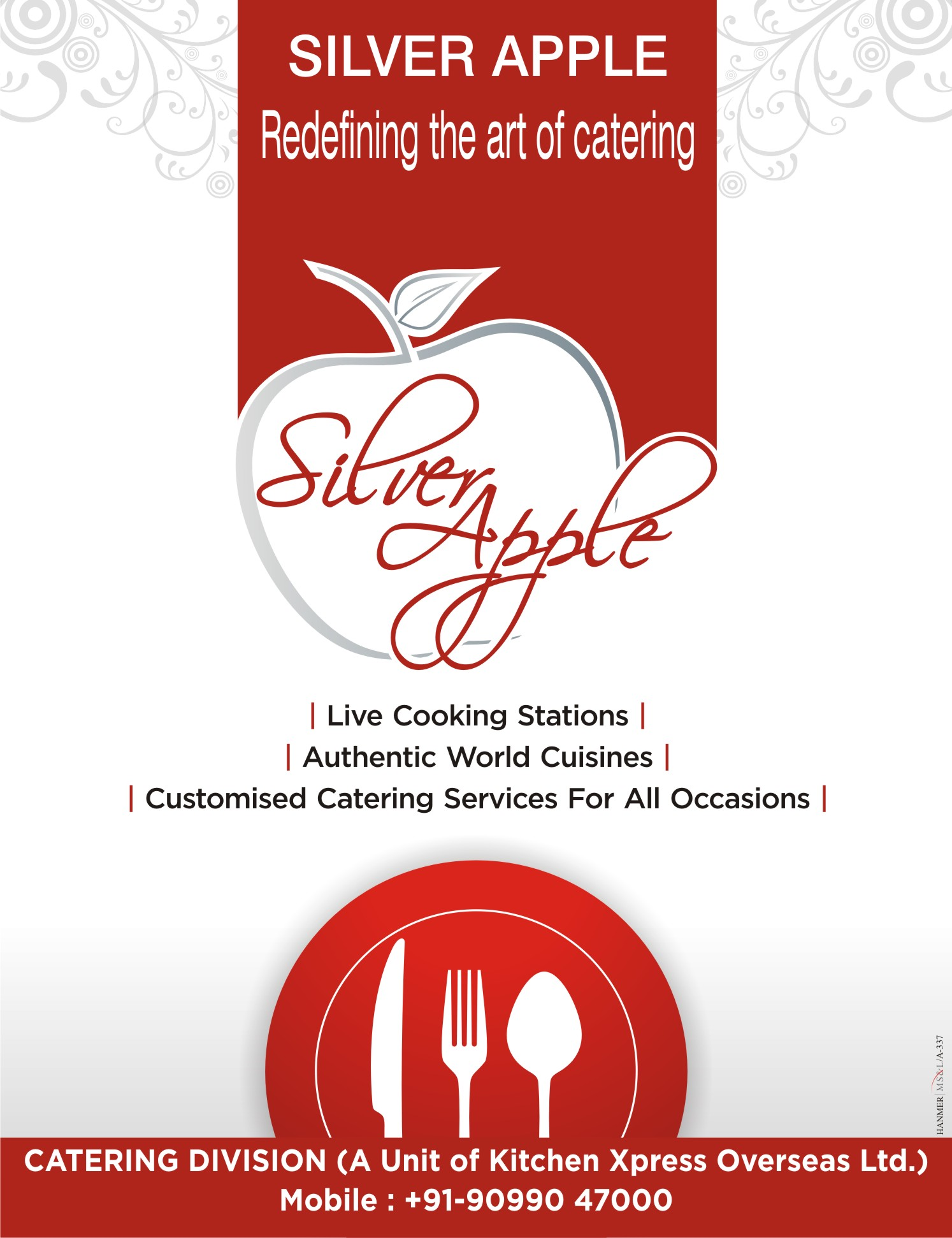 Silver apple catering by nikhil mehta at for Kitchen xpress overseas ltd
