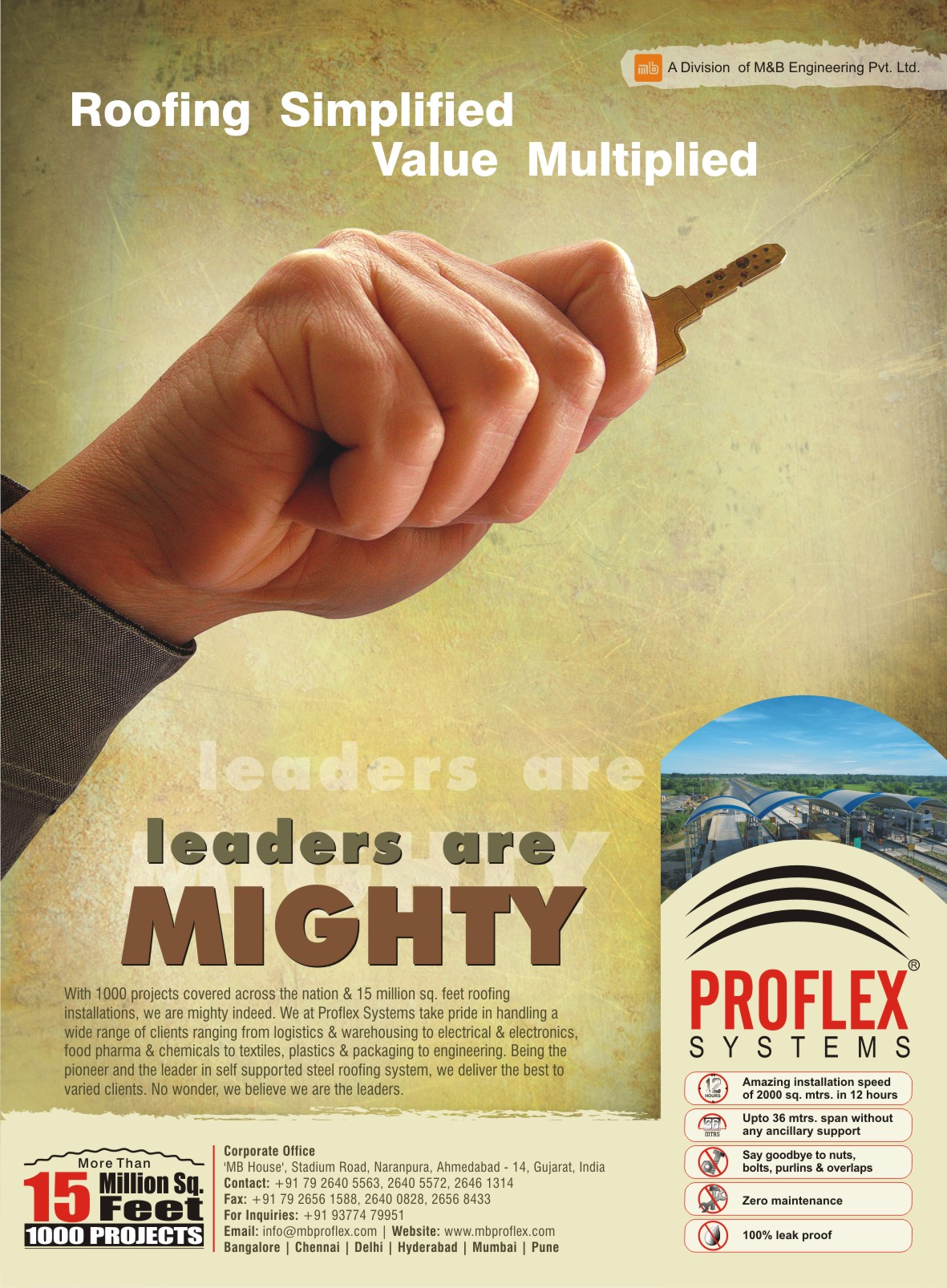 Proflex roofing by nikhil mehta at for Kitchen xpress overseas ltd contact number
