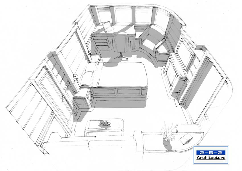gallery for interior architectural sketches