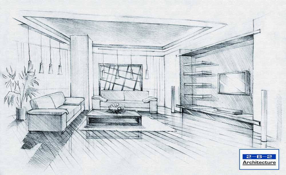 Sketch Architecture Interior Interior Sketch See More