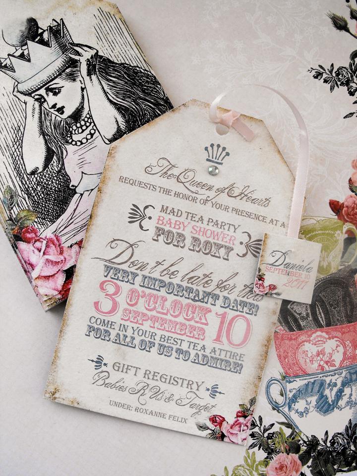 alice and wonderland baby shower invitations : ukrobstep, Baby shower invitations