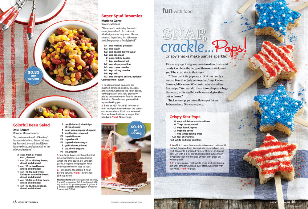 Food Network Magazine Layout