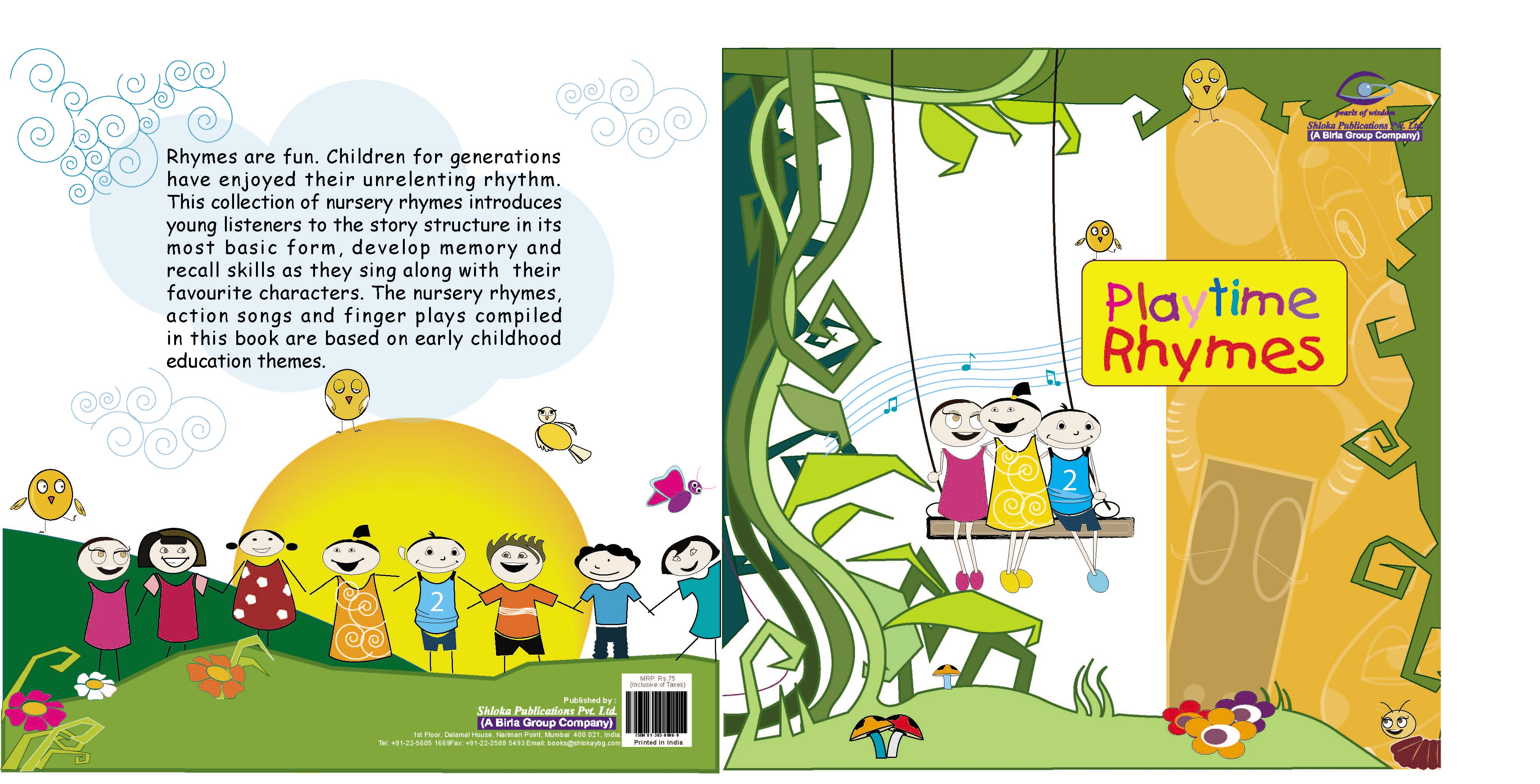 Nursery Book Cover Design ~ Nursery rhymes book cover images