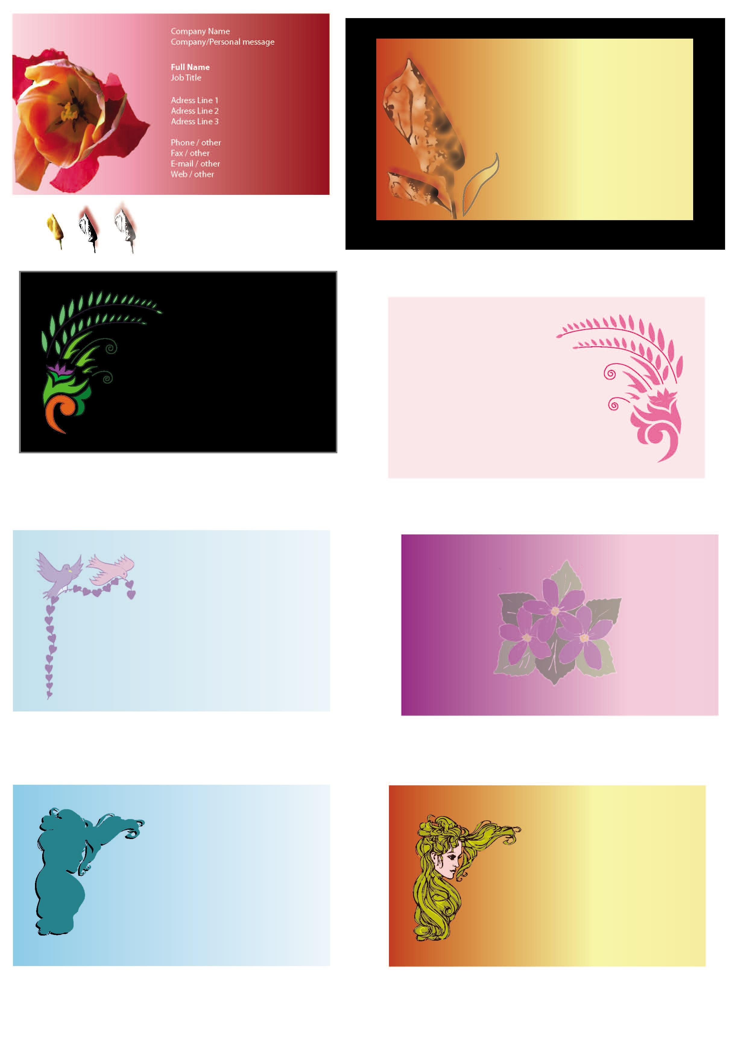 Visiting Cards Design Samples