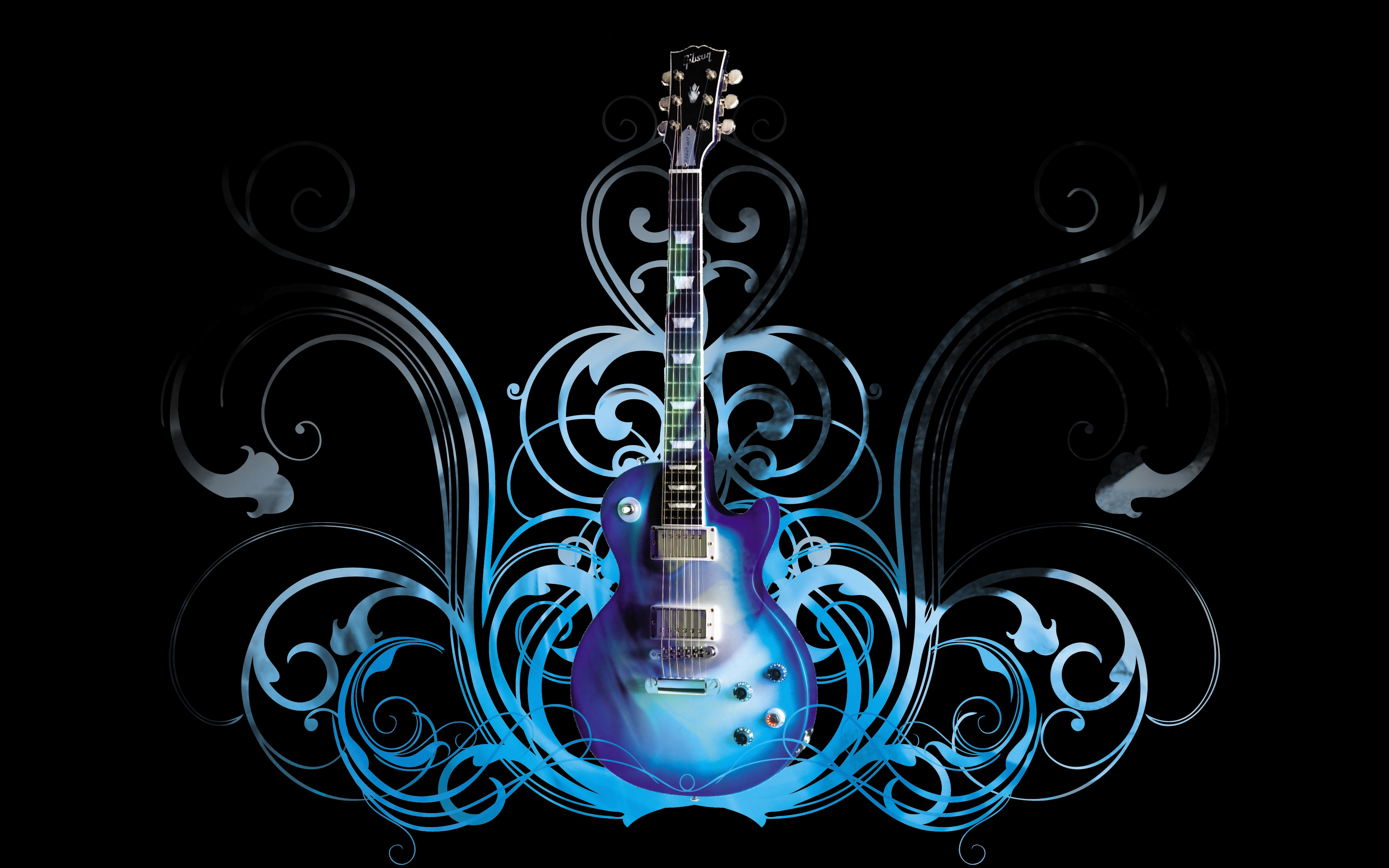electric guitar art wallpaper fire - photo #33