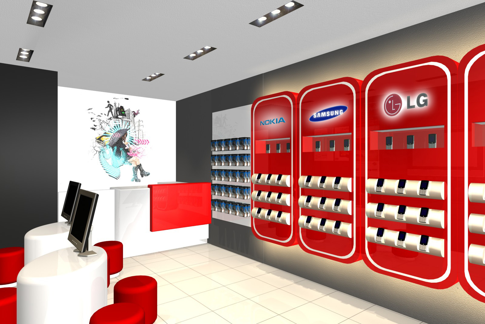 Mobile Shop Interior Design Ideas - Home Design Ideas