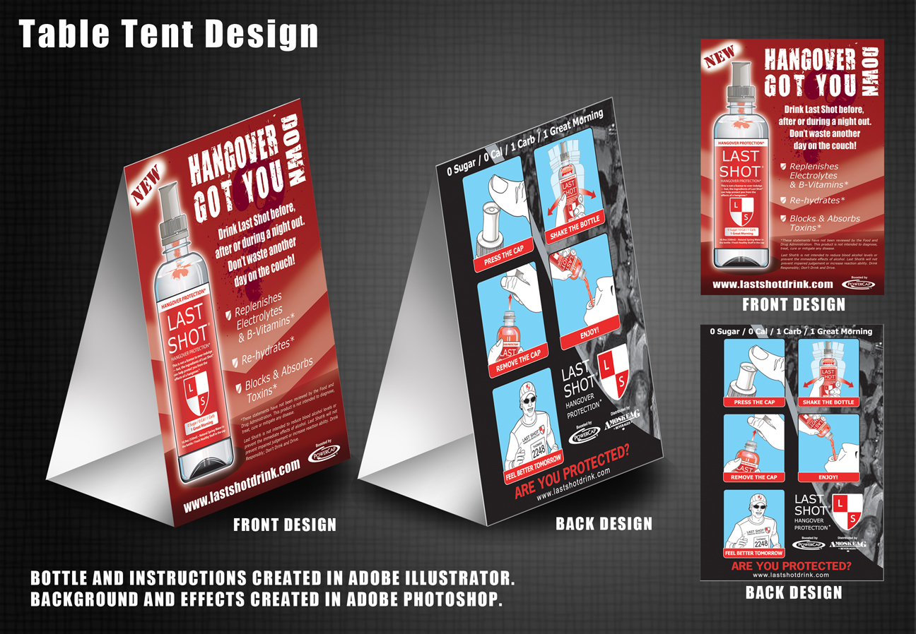 Table Tent Design | Table and Chair and Door
