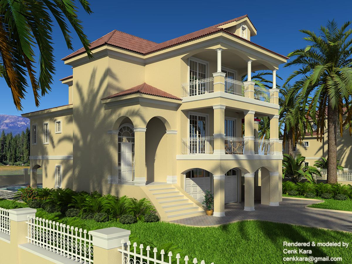 Exterior rendering by cenk kara at for Exterior rendering