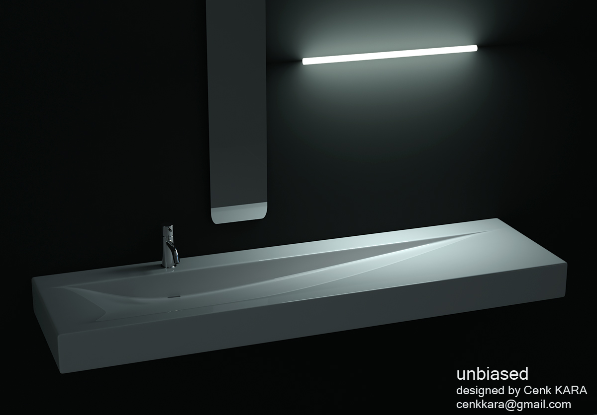 bathroom sink design by cenk kara at