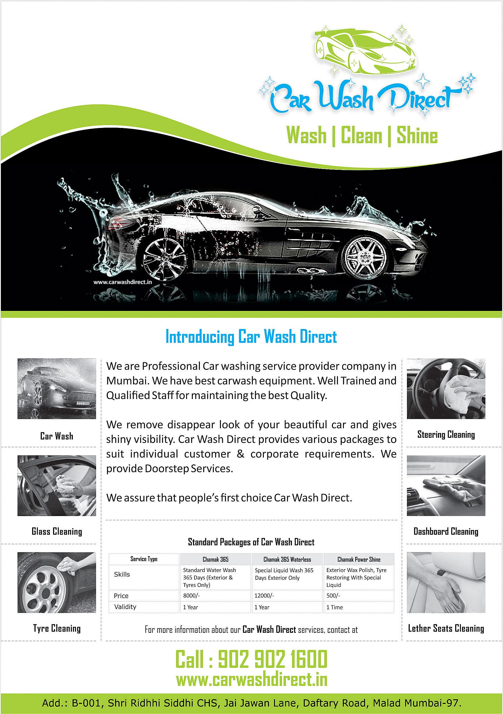 Car Wash Direct - 9029021600 by Raj Bhanse at Coroflot.com