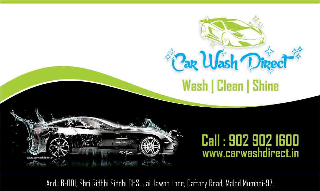 Car wash direct 9029021600 by raj bhanse at coroflotcom for Car wash business cards