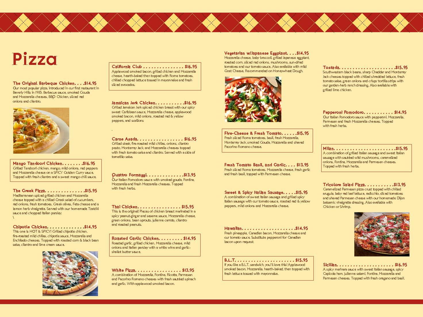 Slyce Pizza Kitchen Menu
