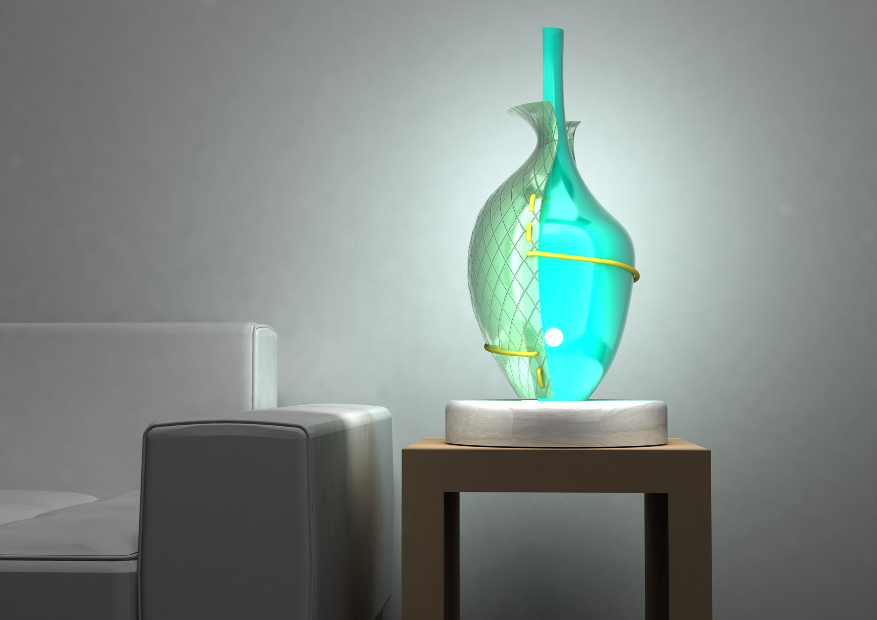Blown glass table lamps - Table Lamp H Favorite Qview Full Size