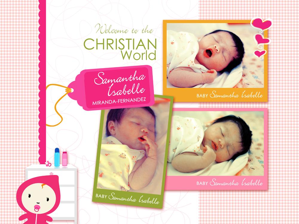 Birthday & Christening Invitation by Darlene Sanguenza-Cano at Coroflot.com