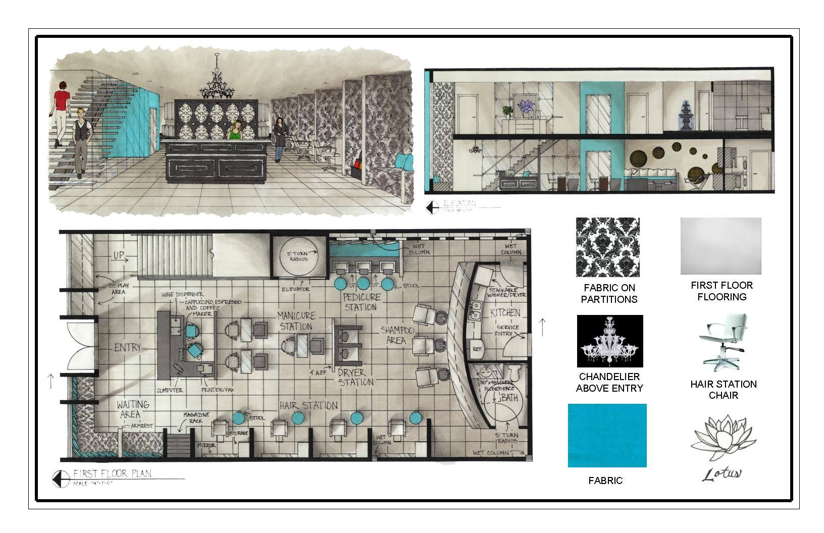 Spa Floor Plan Design 3d on interior design book layout
