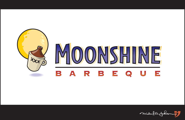 Moonshiners Logo Moonshine Barbeque Logo