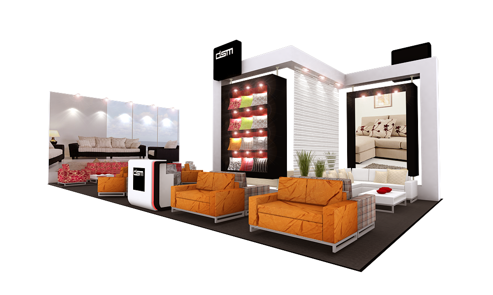 Booth design by kenneth tan at for Furniture design exhibition