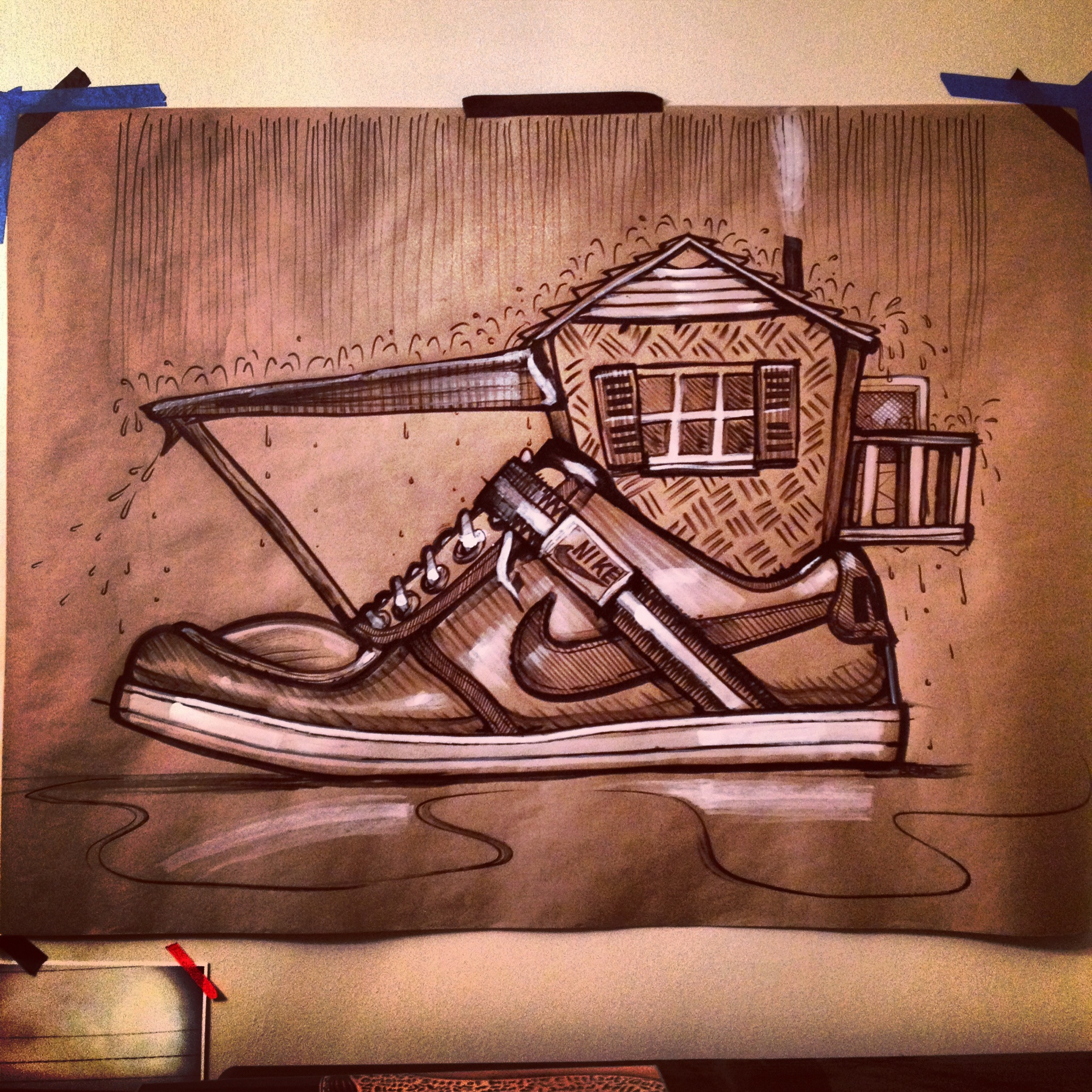 Nike Inspired Drawing By Bryan Beaver At Coroflot Com