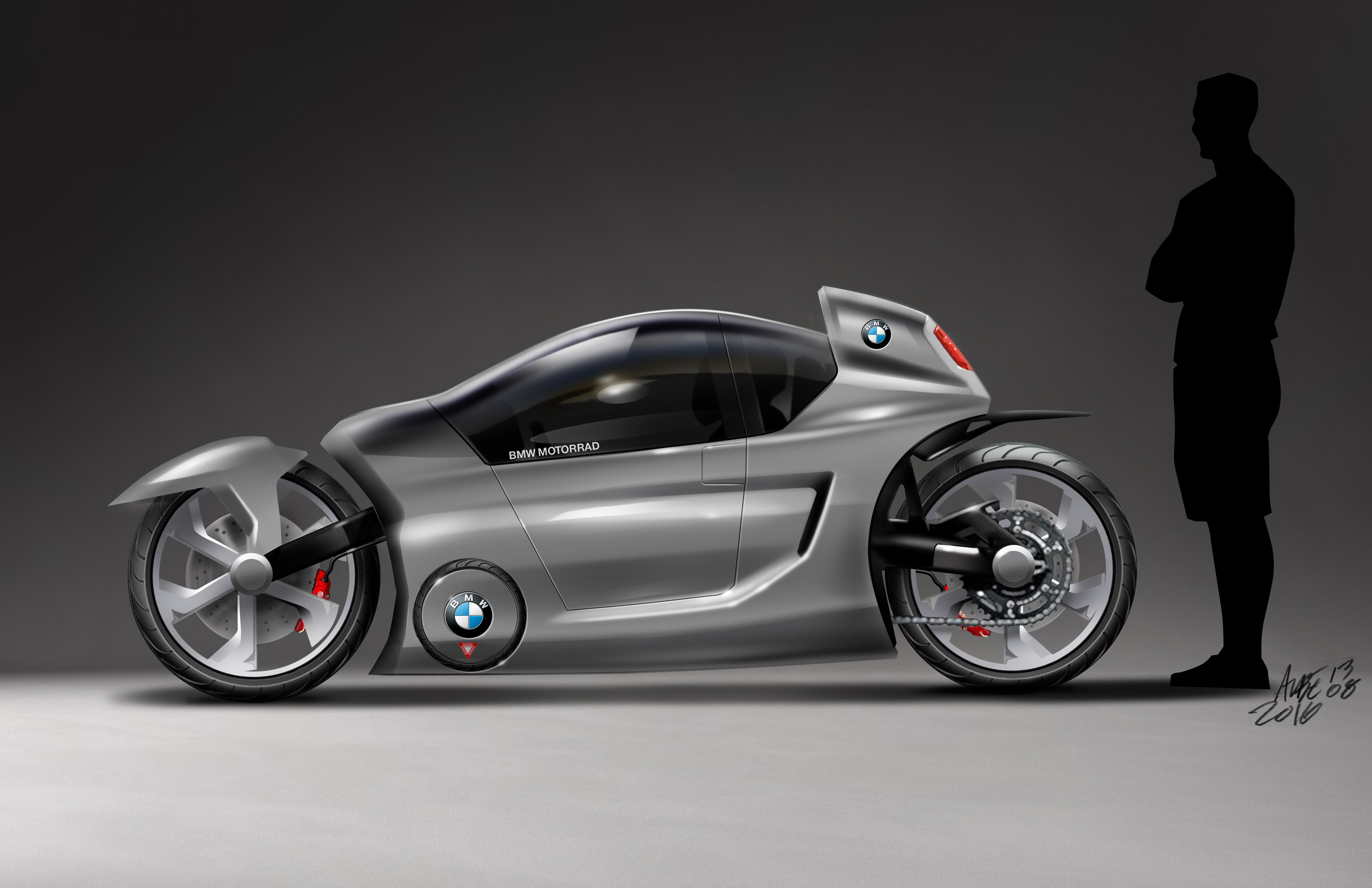 electric motorcycle enclosed - photo #28