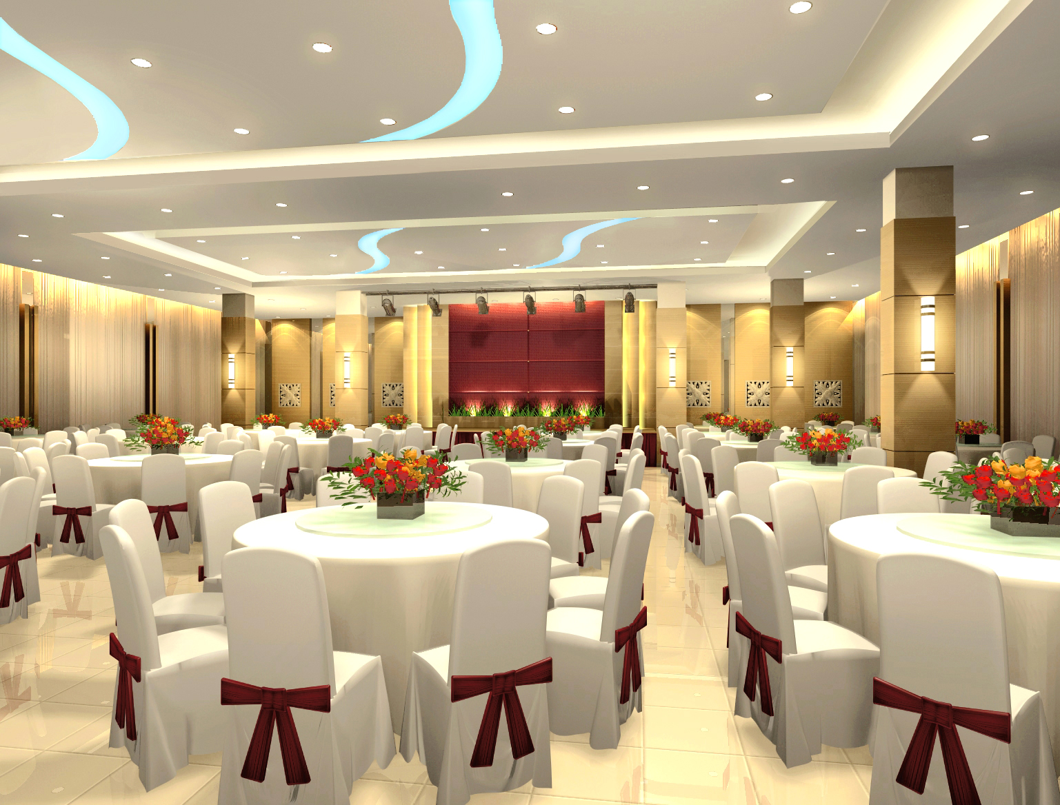 Commercial design by sinyee low at for Wedding hall design