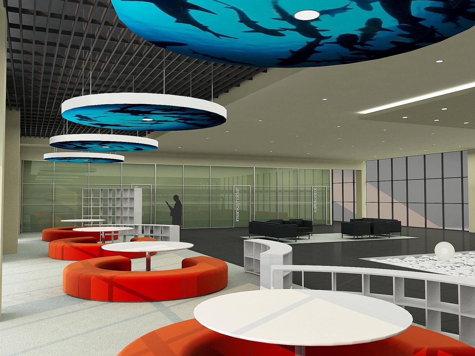 Interior design by ece yalim oguz yalim at coroflotcom for Office lounge design
