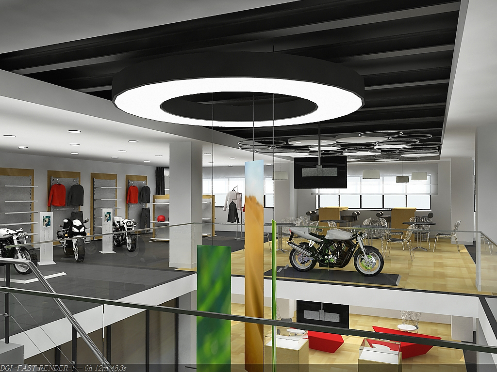 Motorcycle Showroom Design
