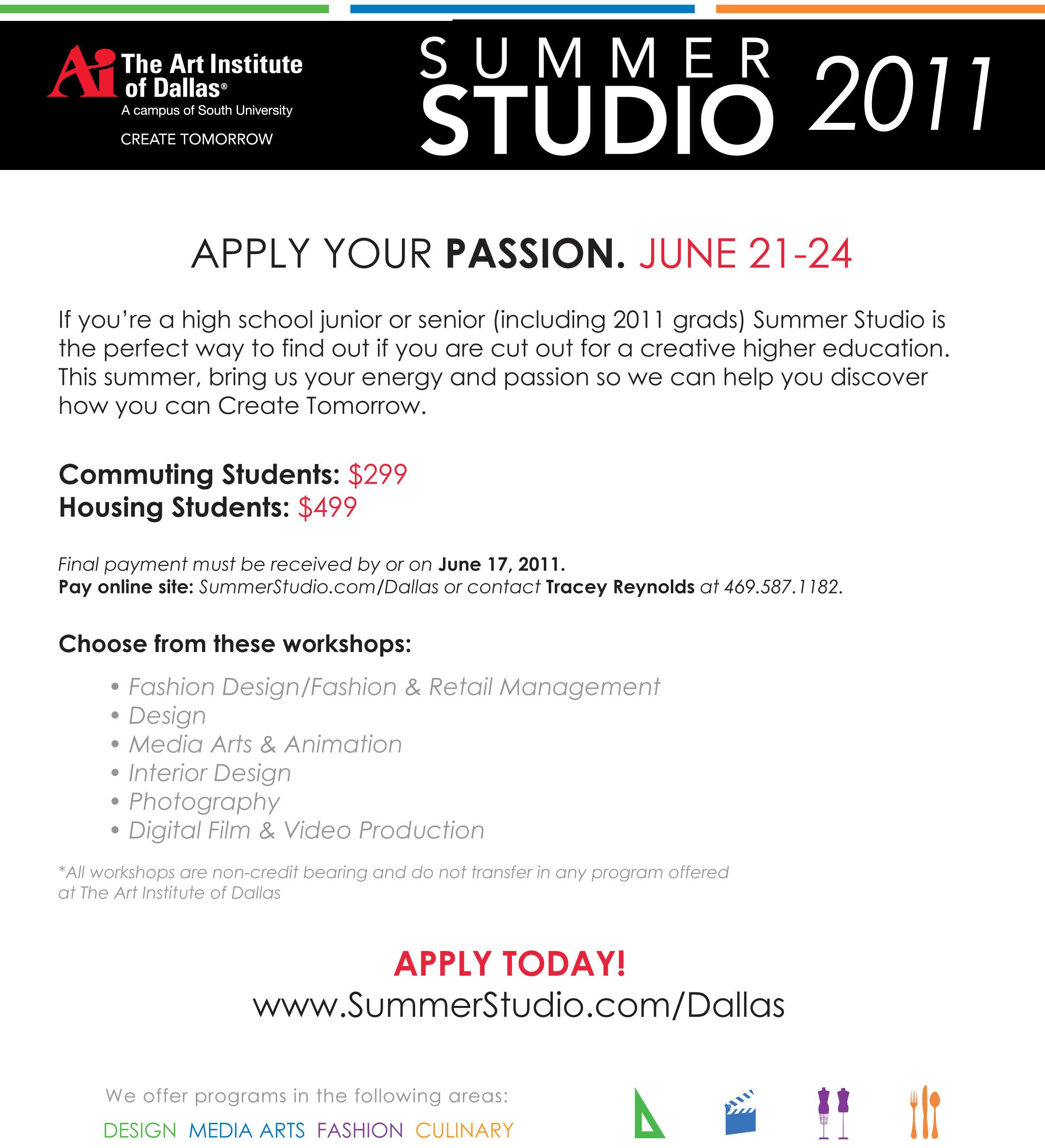 Summer Studio Eblast Invitation