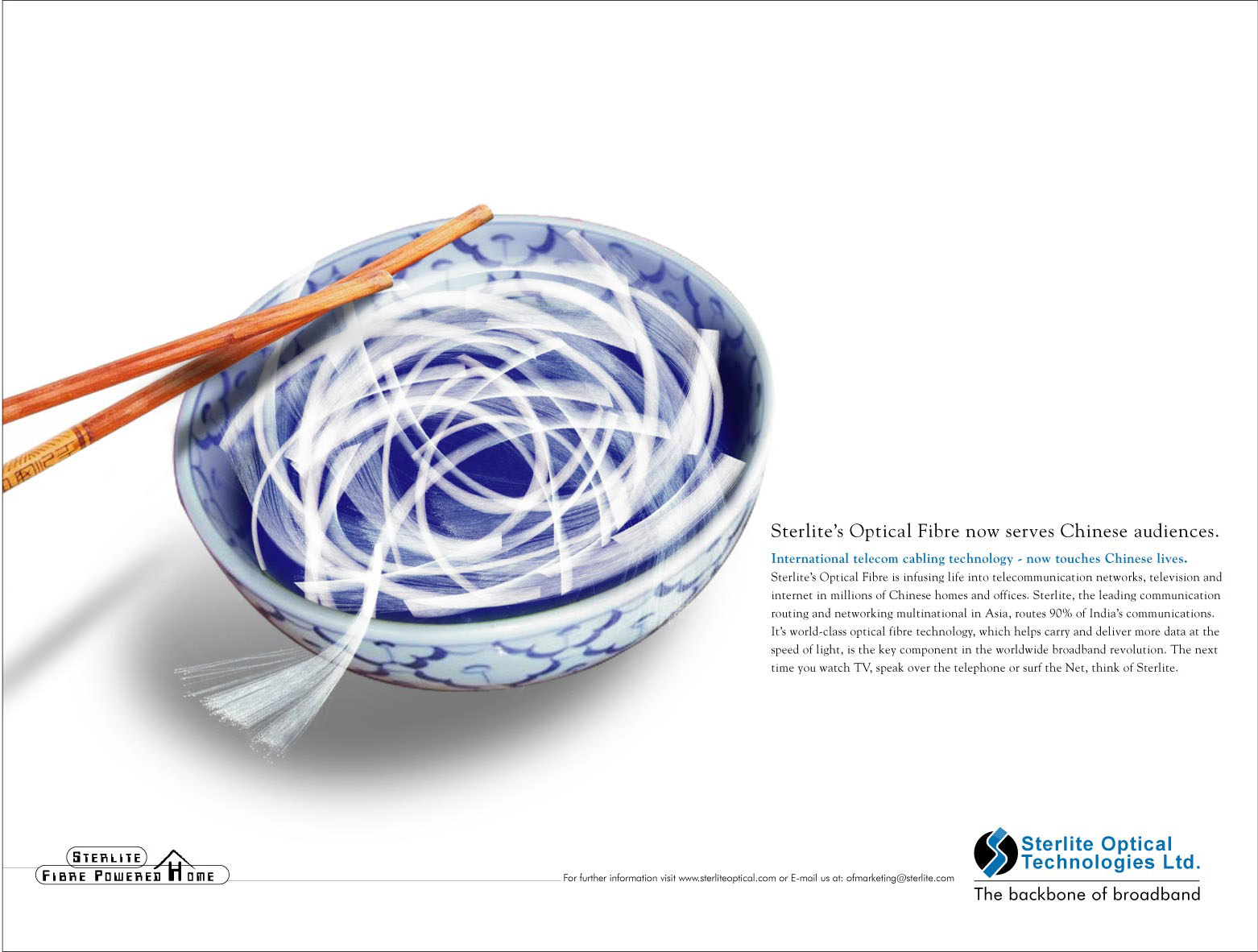 Sterlite optical fibre