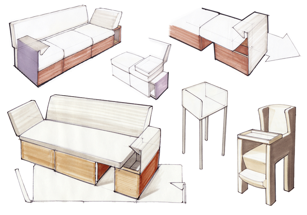 Furniture design sketch crowdbuild for for Furniture design sketches