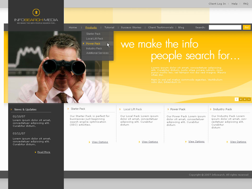 Project home page design