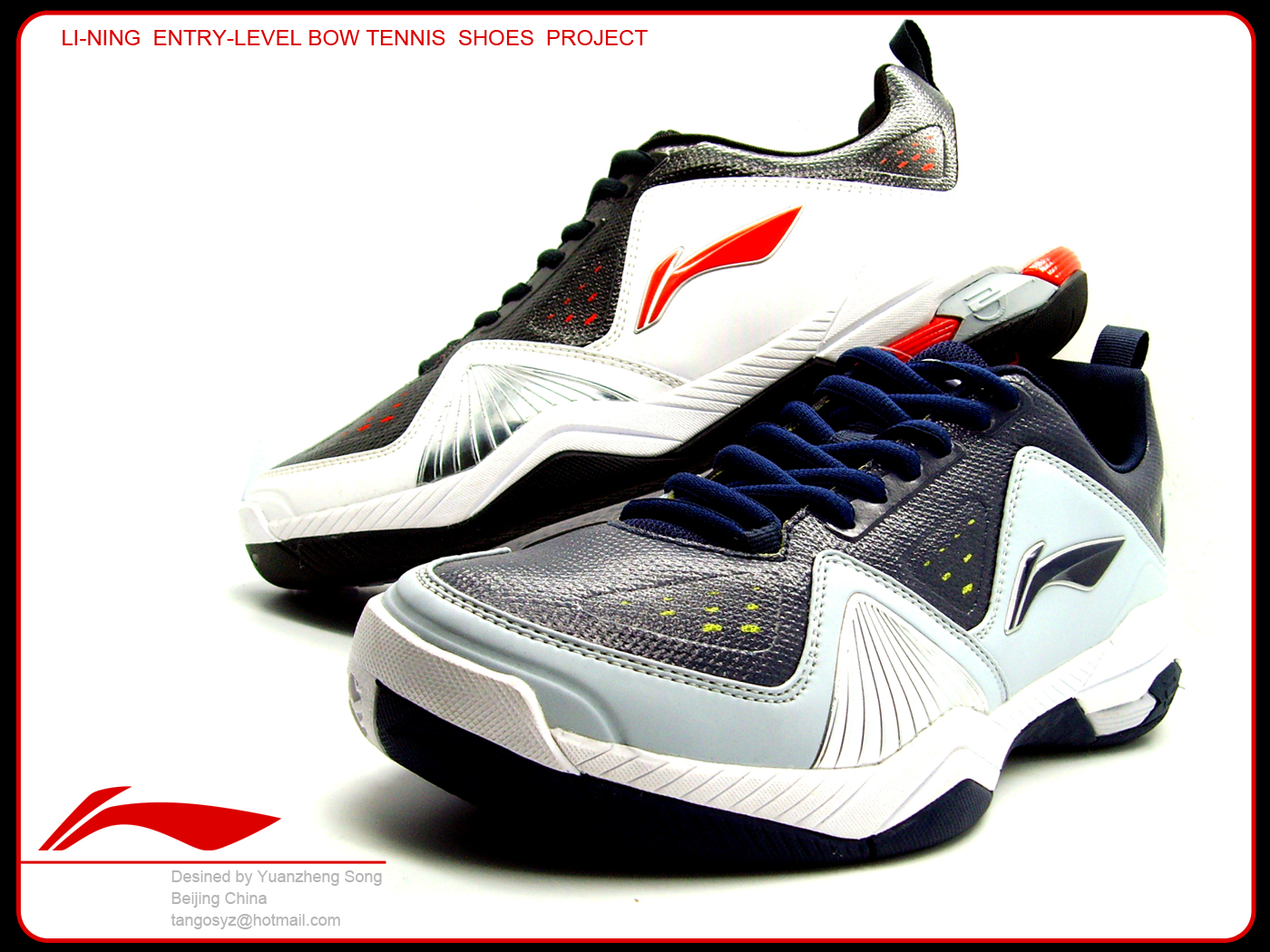 li ning entry level bow tennis shoes by yuanzheng song at