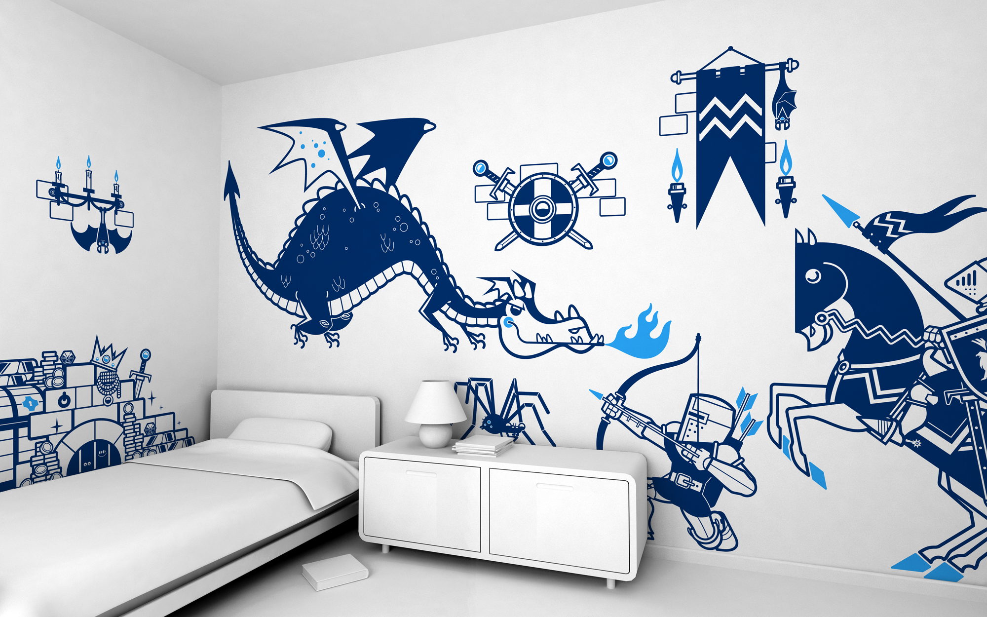 Wall decor stickers for nursery home design stickers for baby nursery or kids room qview full size amipublicfo Gallery