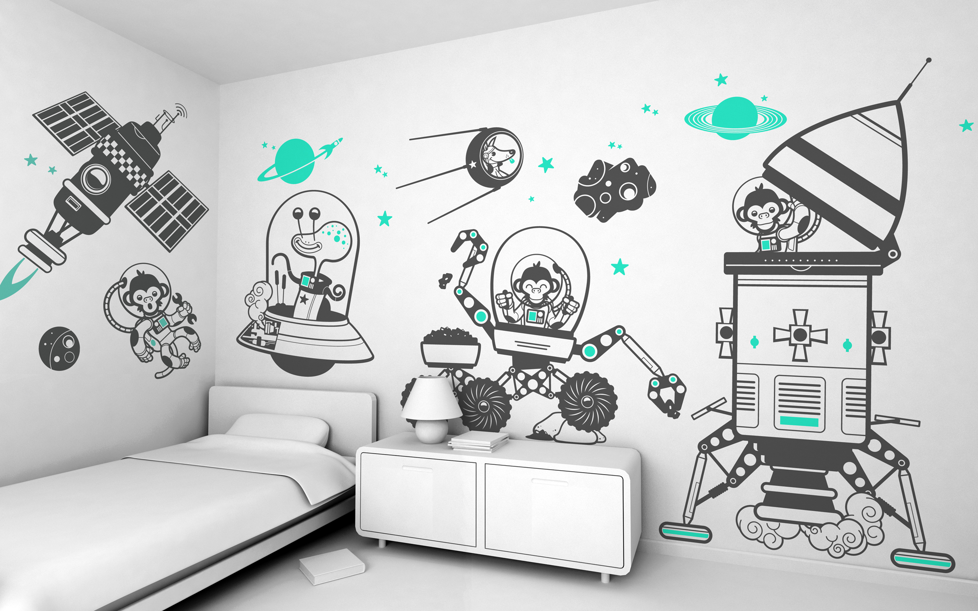 Giant kids wall decals by e glue studio at - Stickers et decoration ...