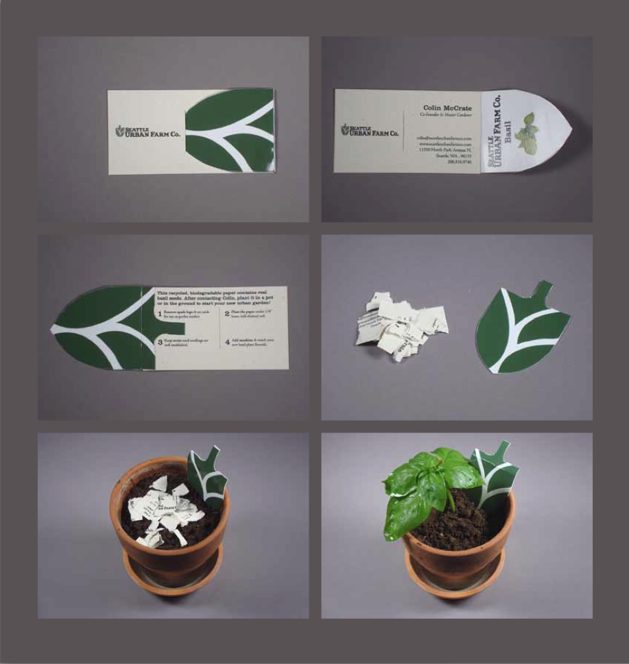Beautiful Seed Paper Business Cards Elaboration - Business Card ...