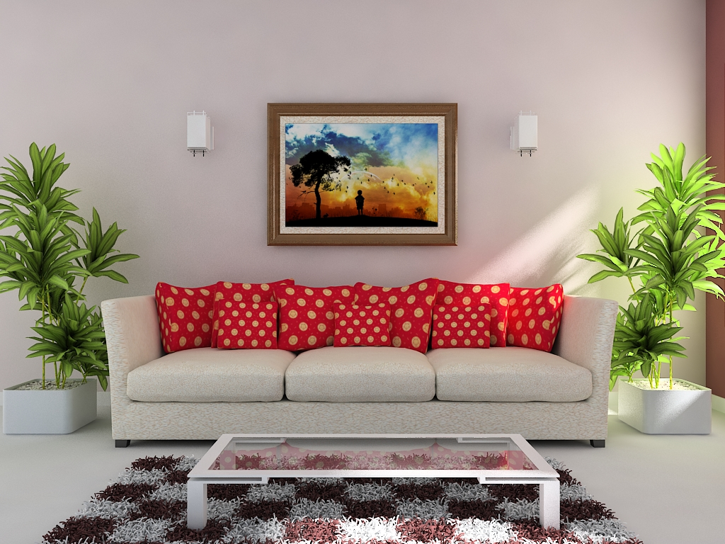 Drawing room by muhammad navaid abid at for Simple drawing room