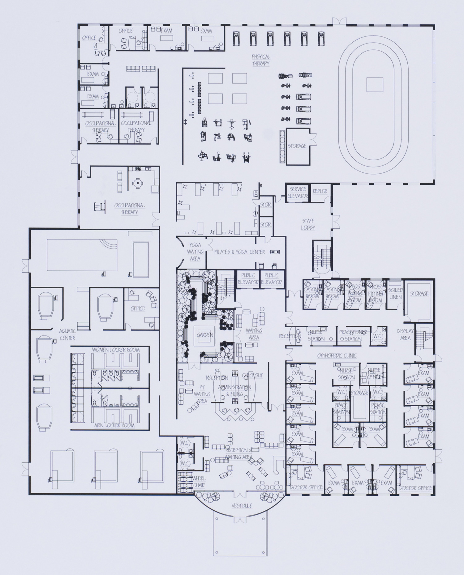 Imaging Center Medical Office Floor Plans as well X Ray Room Floor Plan Simple furthermore Free Optometry Office Floor Plans likewise Healthcare Design likewise Physical Therapy Gym Floor Plan. on therapy clinic design floor plan