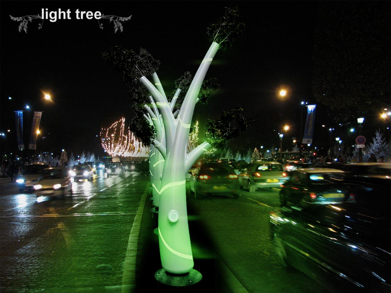 Световой дизайн на улице