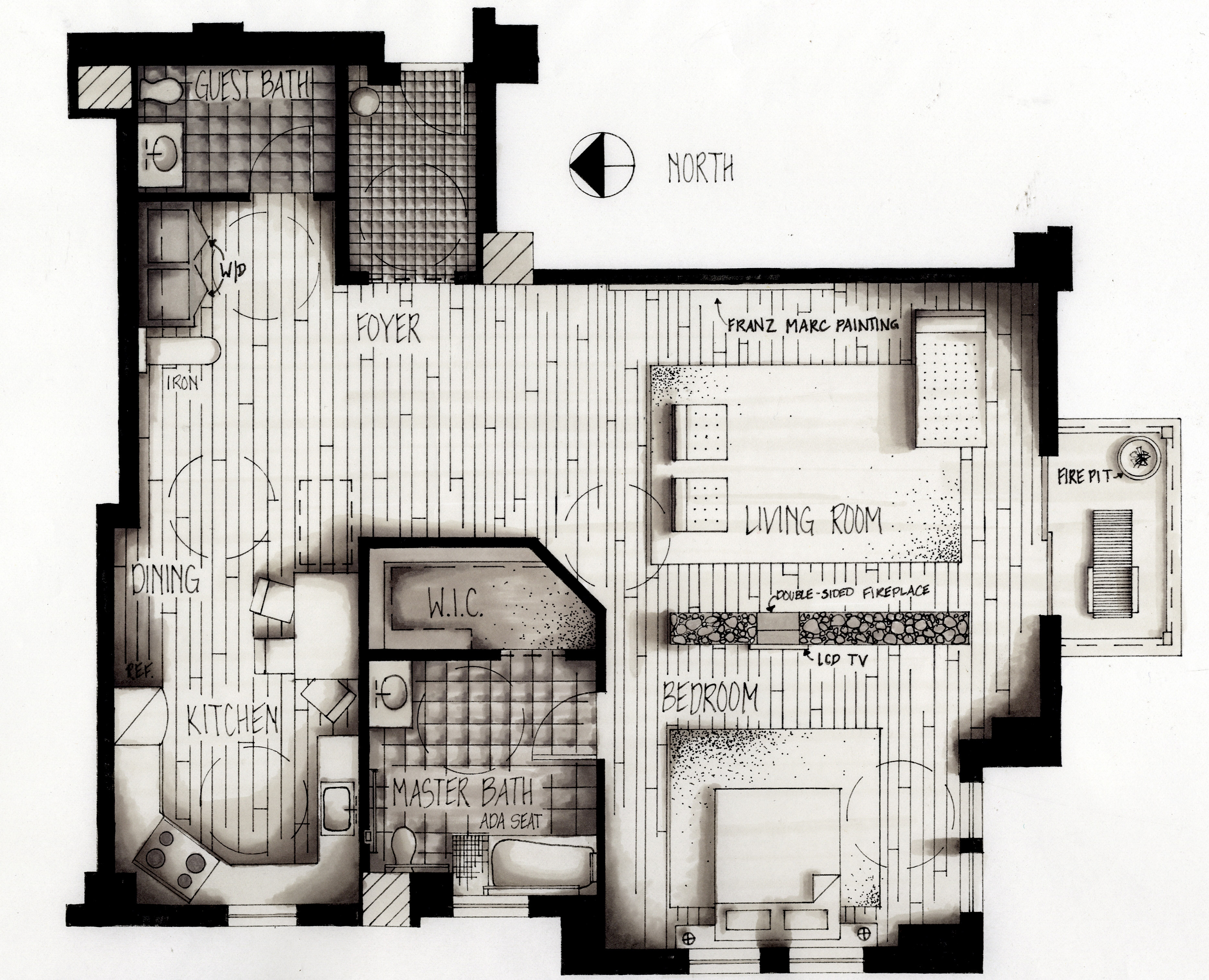 Architectural Plan Hand Drawings