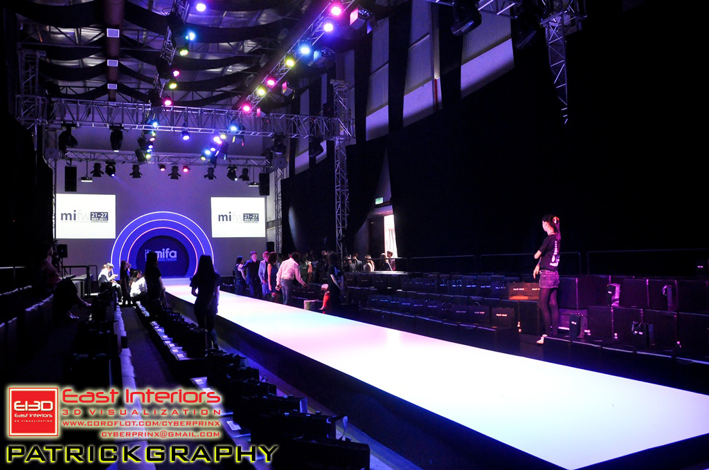 Fashion runway stage design