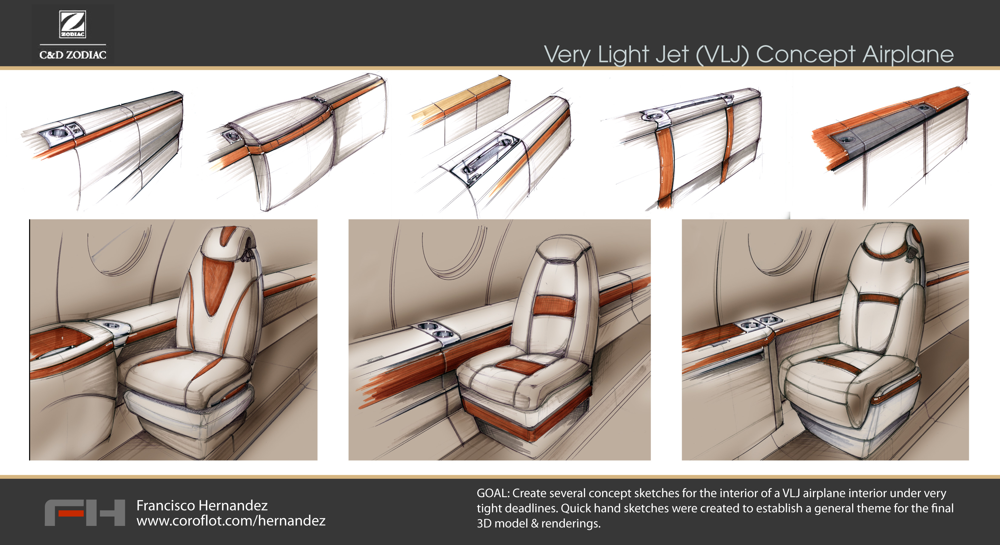Aircraft by francisco hernandez at for Aircraft interior designs