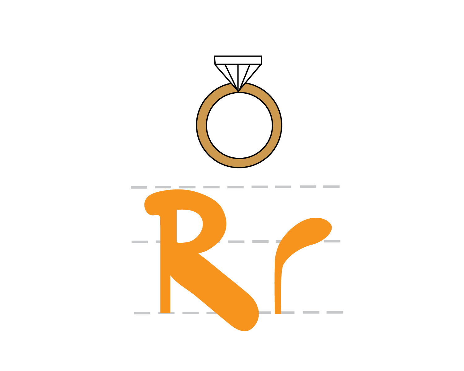 R Is For Ring Alphabet Book by Megan...