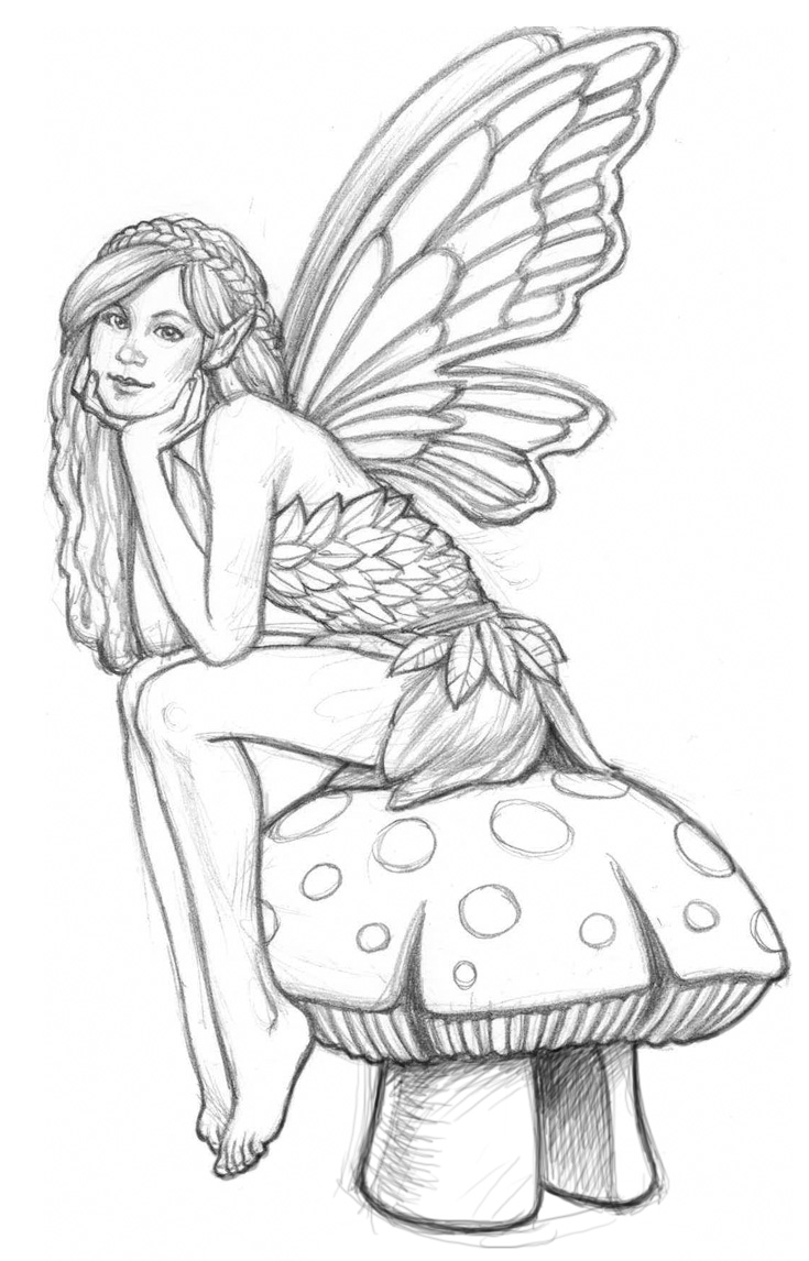 garden pixie coloring pages - photo #34