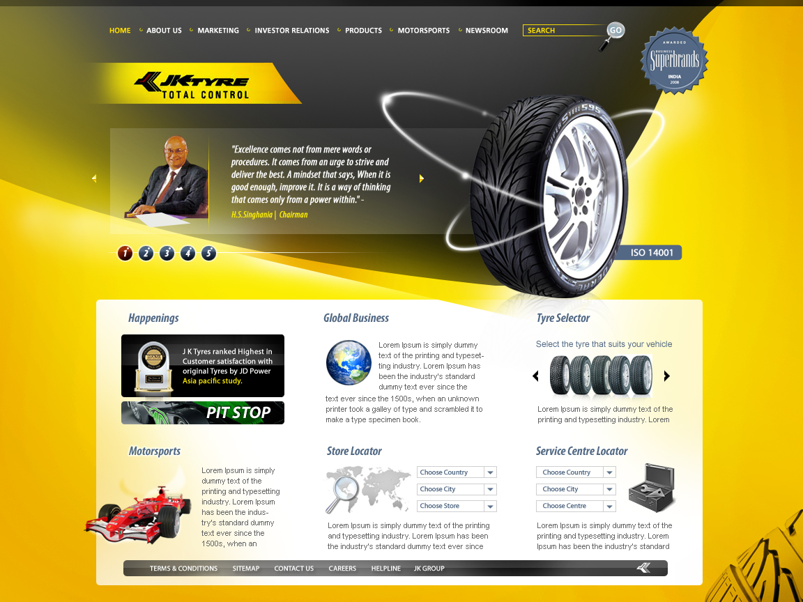 project reports on jk tyres