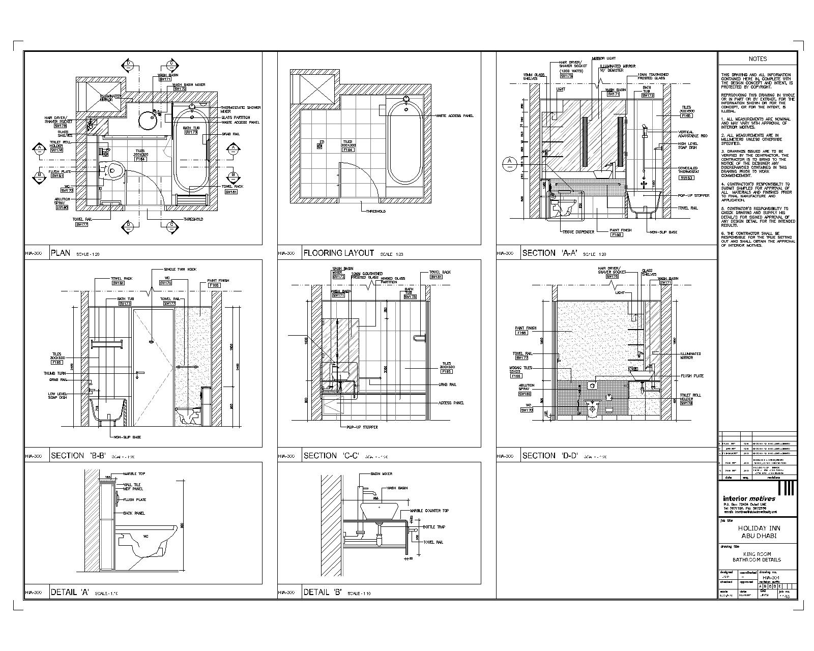 Plan autocad 2d modern house interior design for Cad blueprints