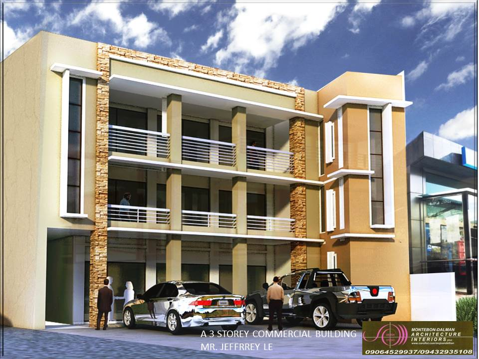 A 3 storey commercial building feb 2014 by jonathan for 3 storey commercial building design