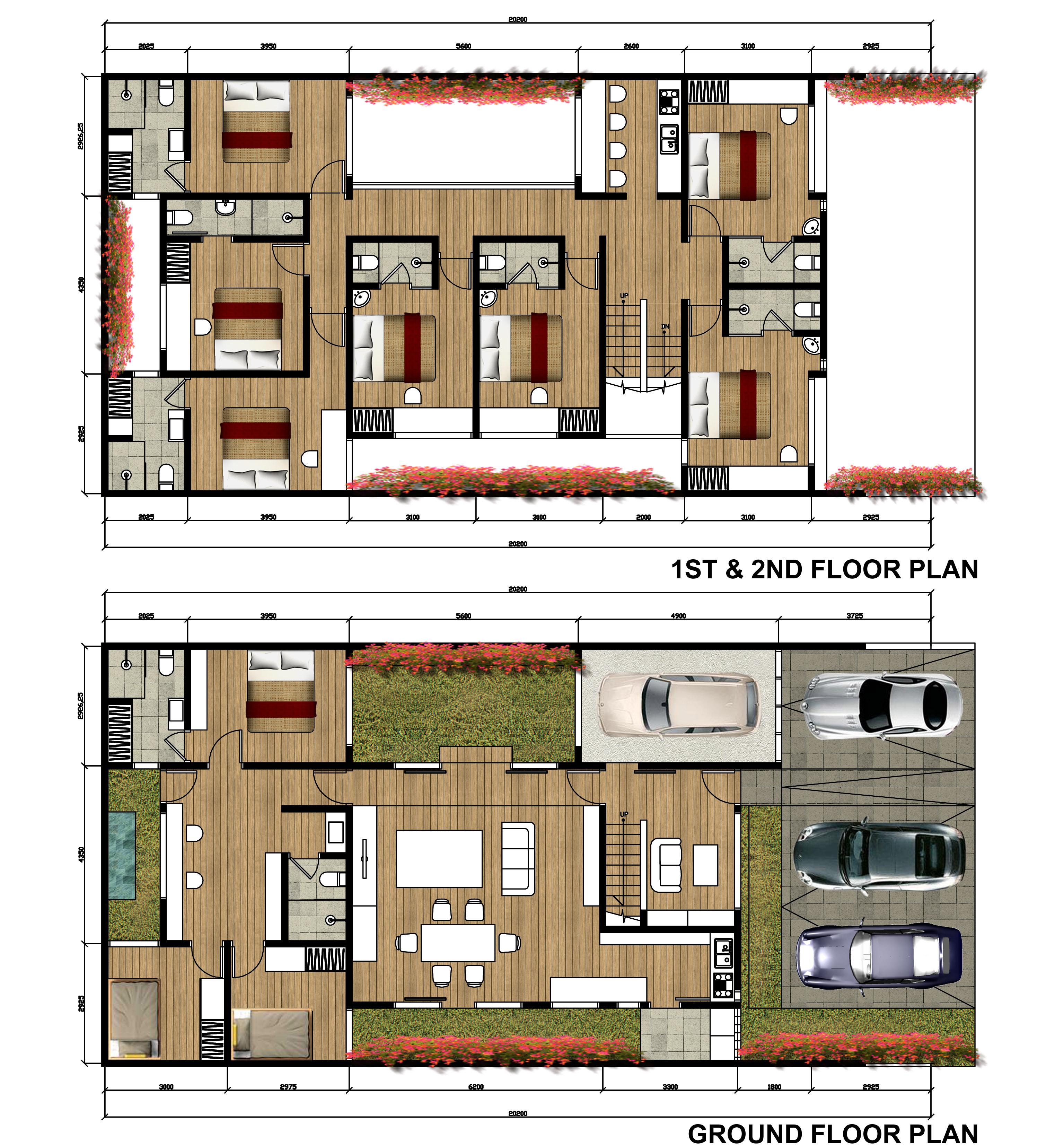 Boarding house design architecture