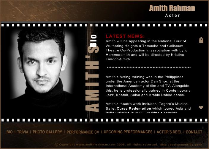 Actor Website Templates. web by geneveve cortez at coroflot com ...
